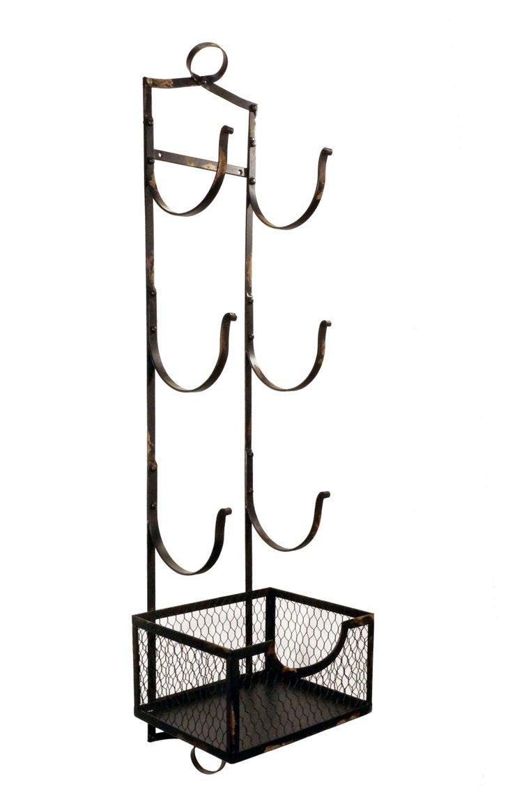 3-Tier Towel Rack w/ Storage Basket