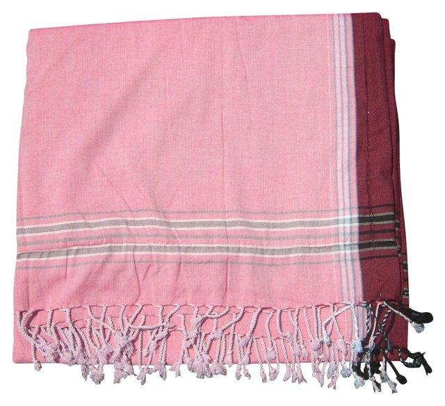 Sarong Towel, Rose/Maroon