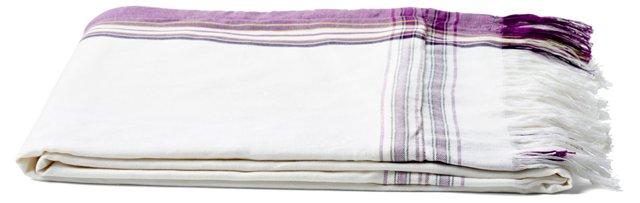 Surf Sarong Towel, White/Purple