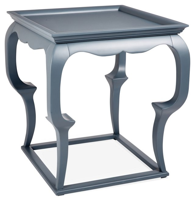 Cassio Side Table, Blue