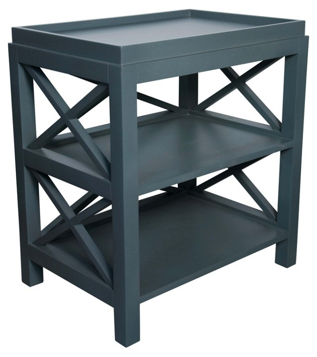 Sullivan Side Table, Blue