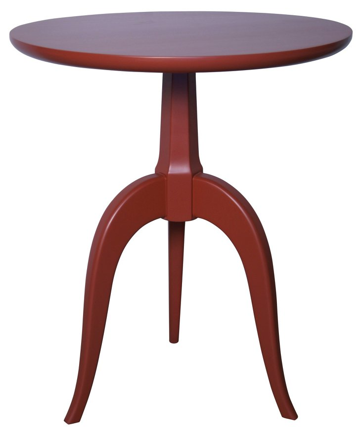 Corin Side Table, Red