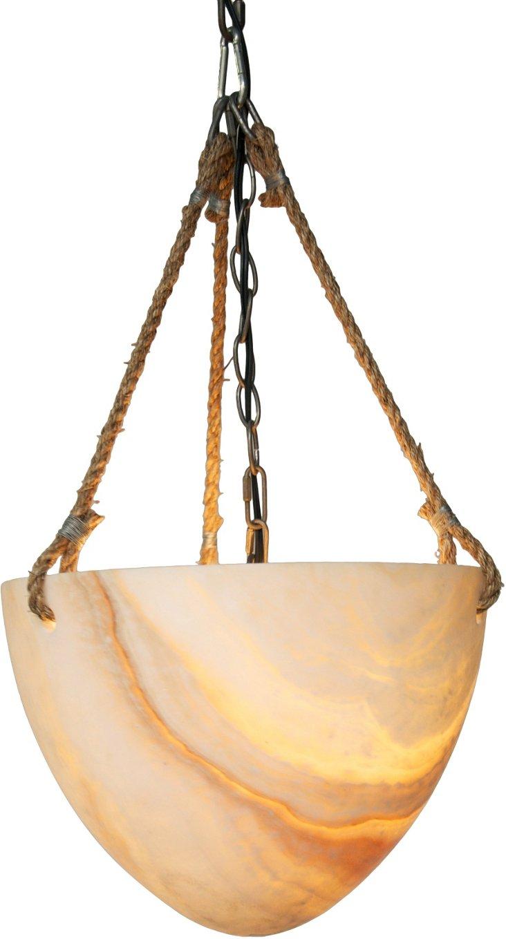 Maybel 1-Light Pendant, Onyx