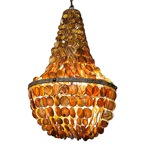 Donnabella 4-Light Chandelier, Shell