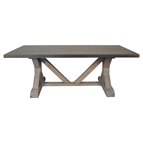 X-Base Dining Table, Vintage Gray