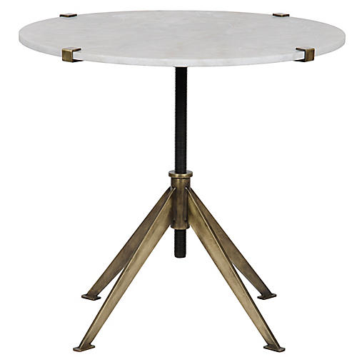 Large Edith Side Table, Antiqued Gold