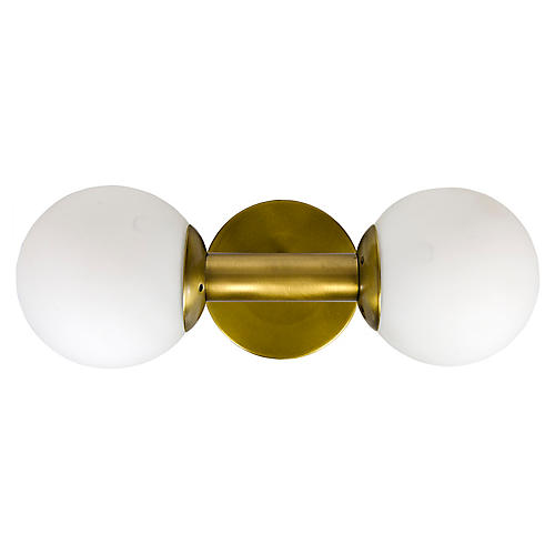 Antiope Sconce, Brass