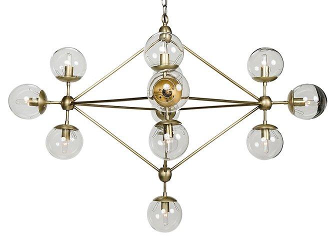 Pluto Chandelier Brass Chandeliers Ceiling Lights Fans Lighting One Kings Lane