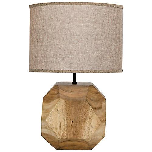 Loraine Teak Table Lamp, Natural