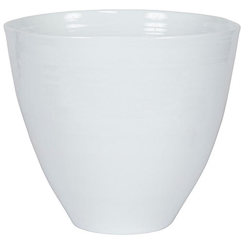 "16"" Athena Planter, White"