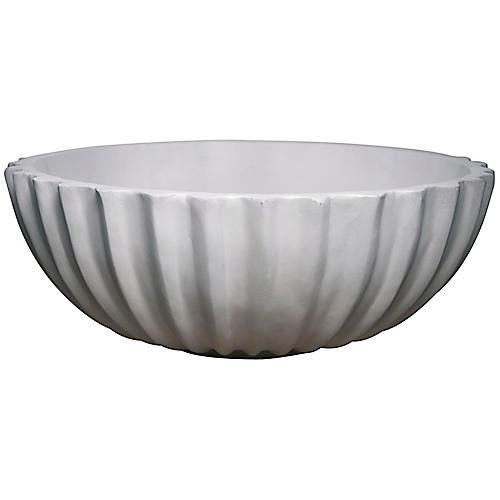 "21"" Quentin Decorative Bowl, Off-White"