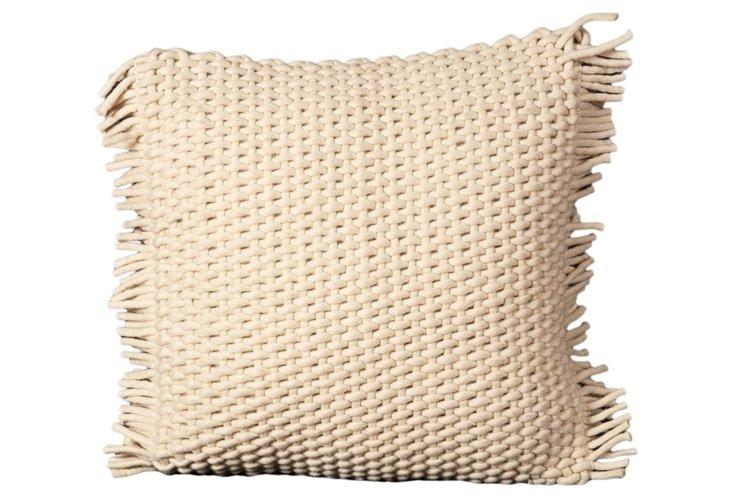 Grids 20x20 Pillow, Ivory