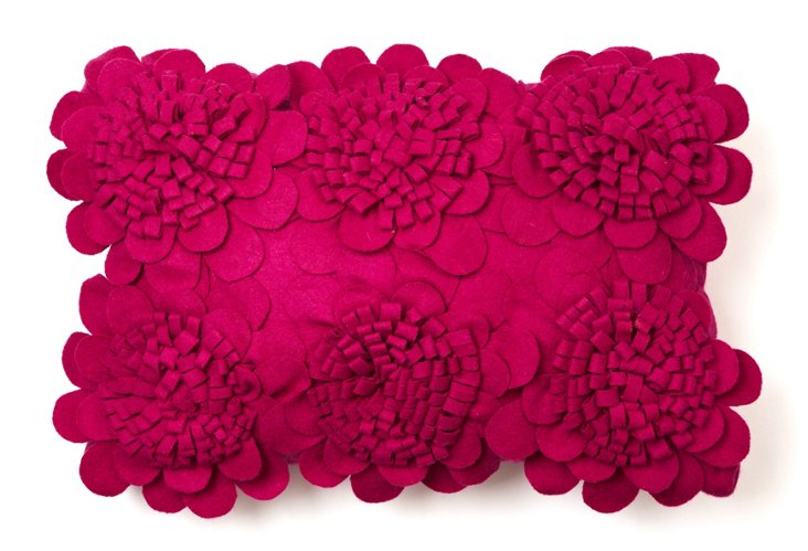 Sunflowers 12x18 Pillow, Fuchsia