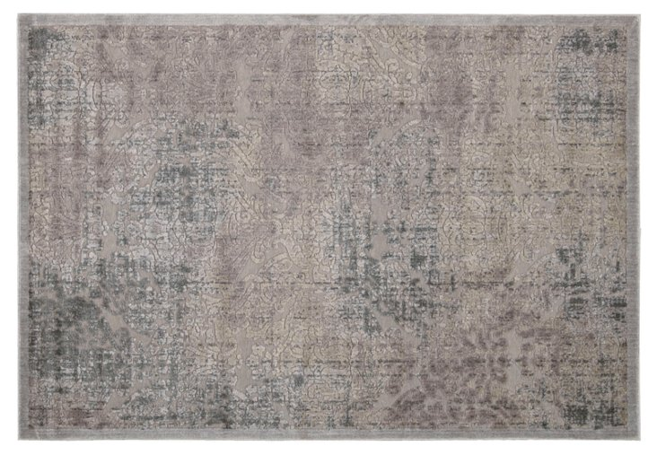 "5'3""x7'5"" Grace Rug, Mauve/Gray"