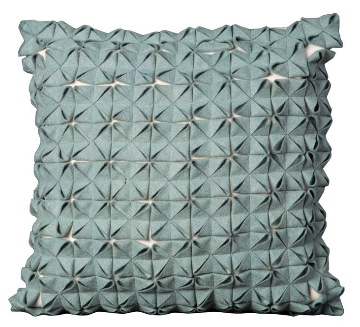 Origami 20x20 Pillow, Blue
