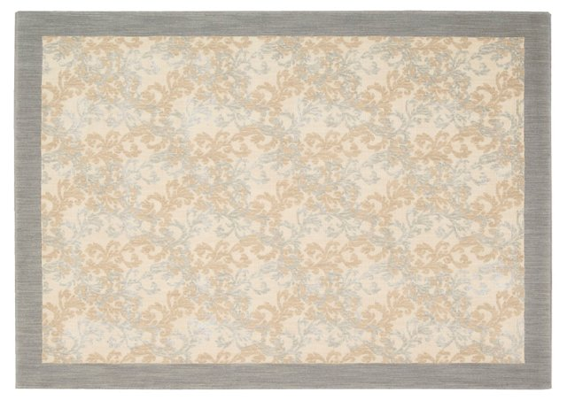 Touro Rug, Dove Gray/Apricot