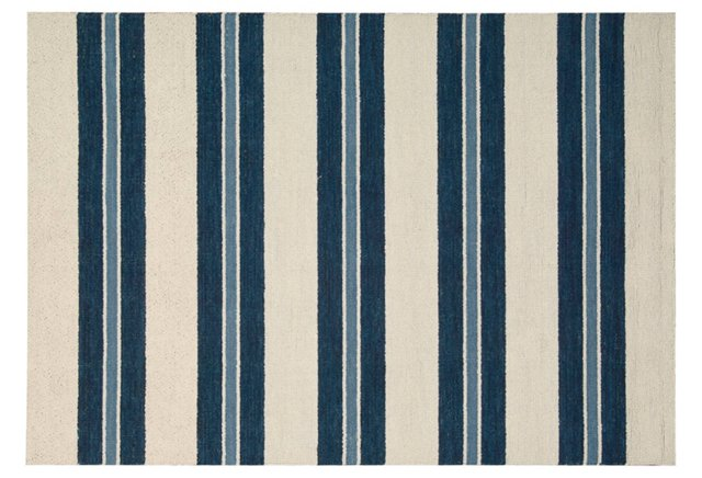 Gable Rug, Ivory/Navy