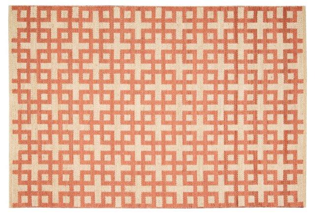 Kelly Flat-Weave Rug, Mango
