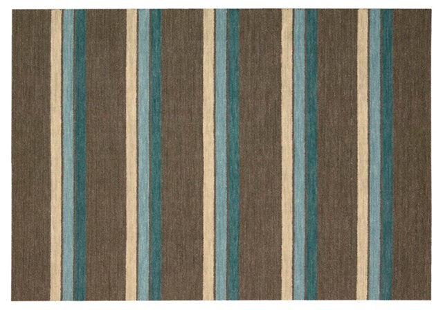 Grace Rug, Brown/Blue