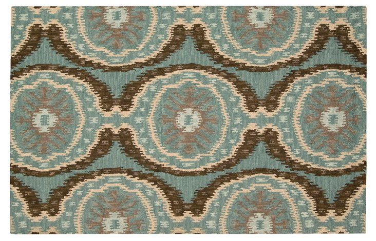 Rogers Rug, Cocoa/Blue