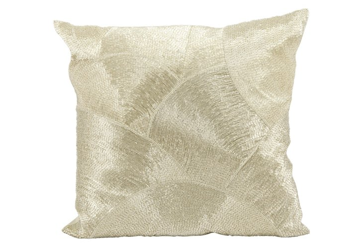 Sequin 20x20 Pillow, Silver