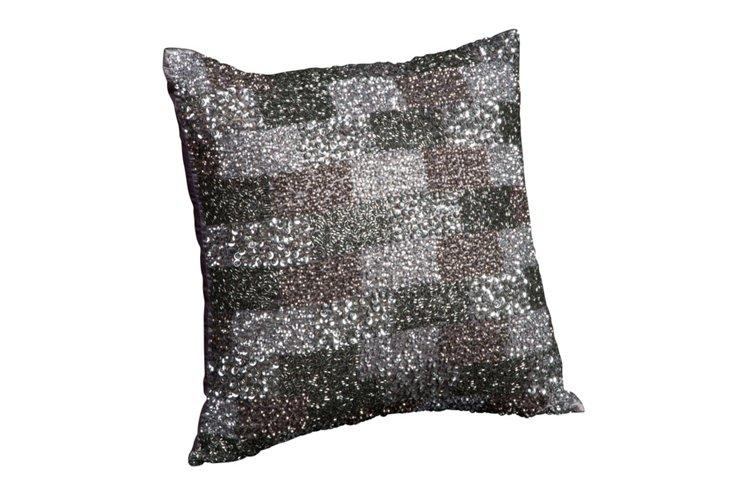 Jewel 16x16 Pillow, Gray