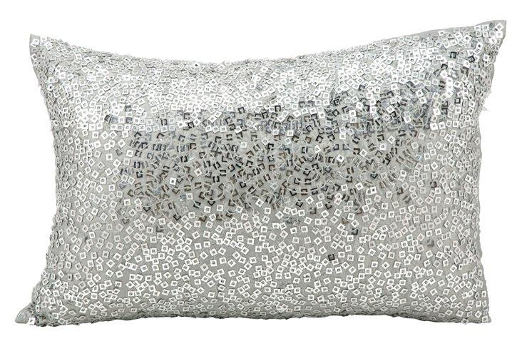 Sequin 12x18 Pillow, Gray
