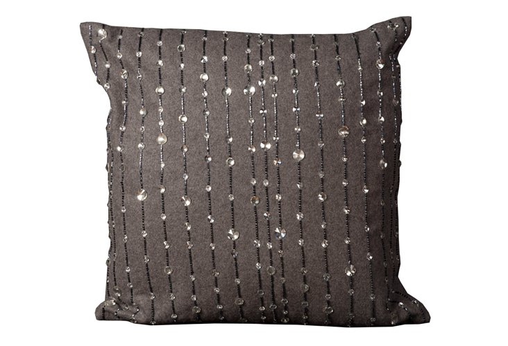 Jewel 20x20 Pillow, Gray
