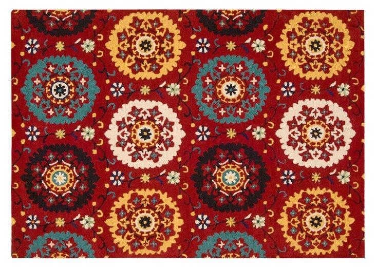 """8'x10'6"""" Alma Rug, Red/Multi"""
