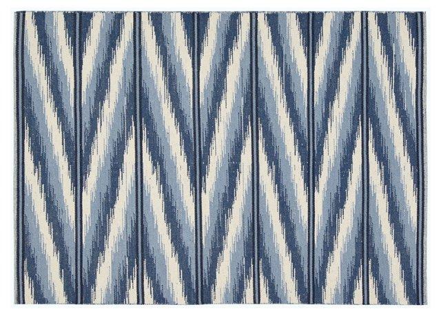 Malika Flat-Weave Rug, Blue/Multi