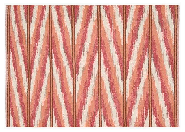 Malika Flat-Weave Rug, Coral