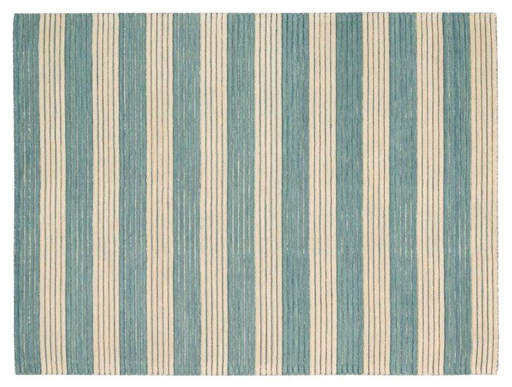"2'3""x8' Rylan Flat-Weave Runner, Blue"