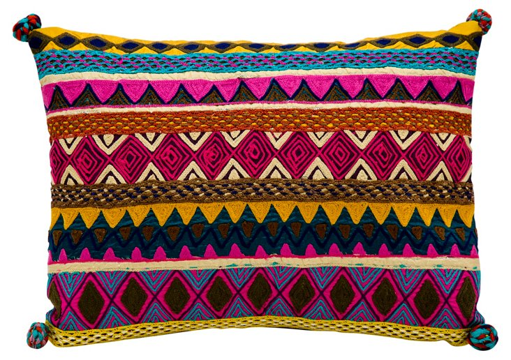Navajo 13x17 Embroidered Pillow, Multi