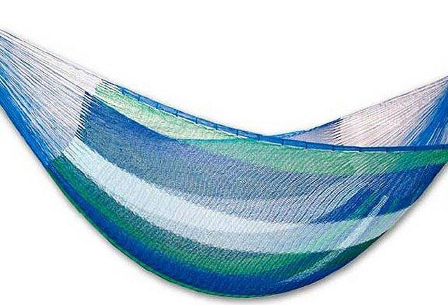 King Size Sea Breeze Hammock, Blue