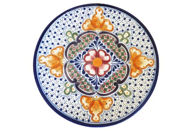 Talavera I Round Plate, Multi