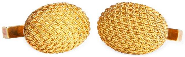 18K Yellow Gold Tiffany Cufflinks