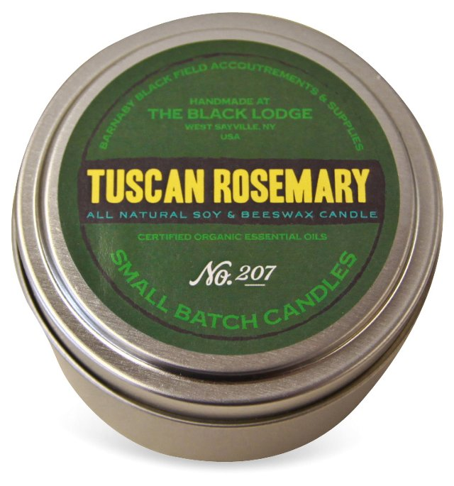 Soy Candle Tin, Tuscan Rosemary