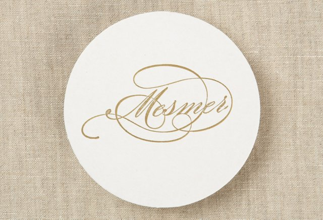 100 Custom Letterpress Coasters, Formal