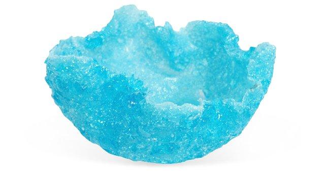 Large Feuille Bowl, Copper-Blue