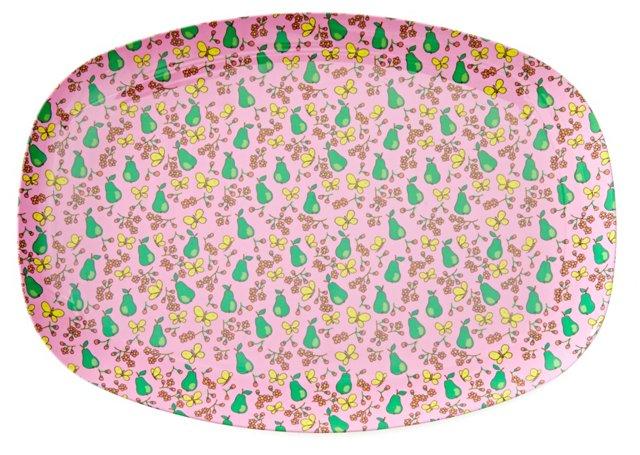 S/2 Melamine Plates, Pear Print