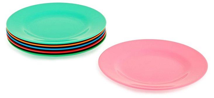 Asst of 6 Melamine Round Side Plates