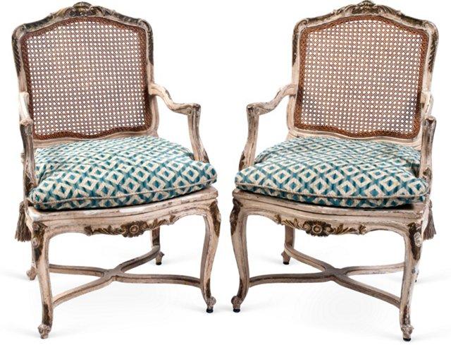 Vintage Italian Armchairs, Pair