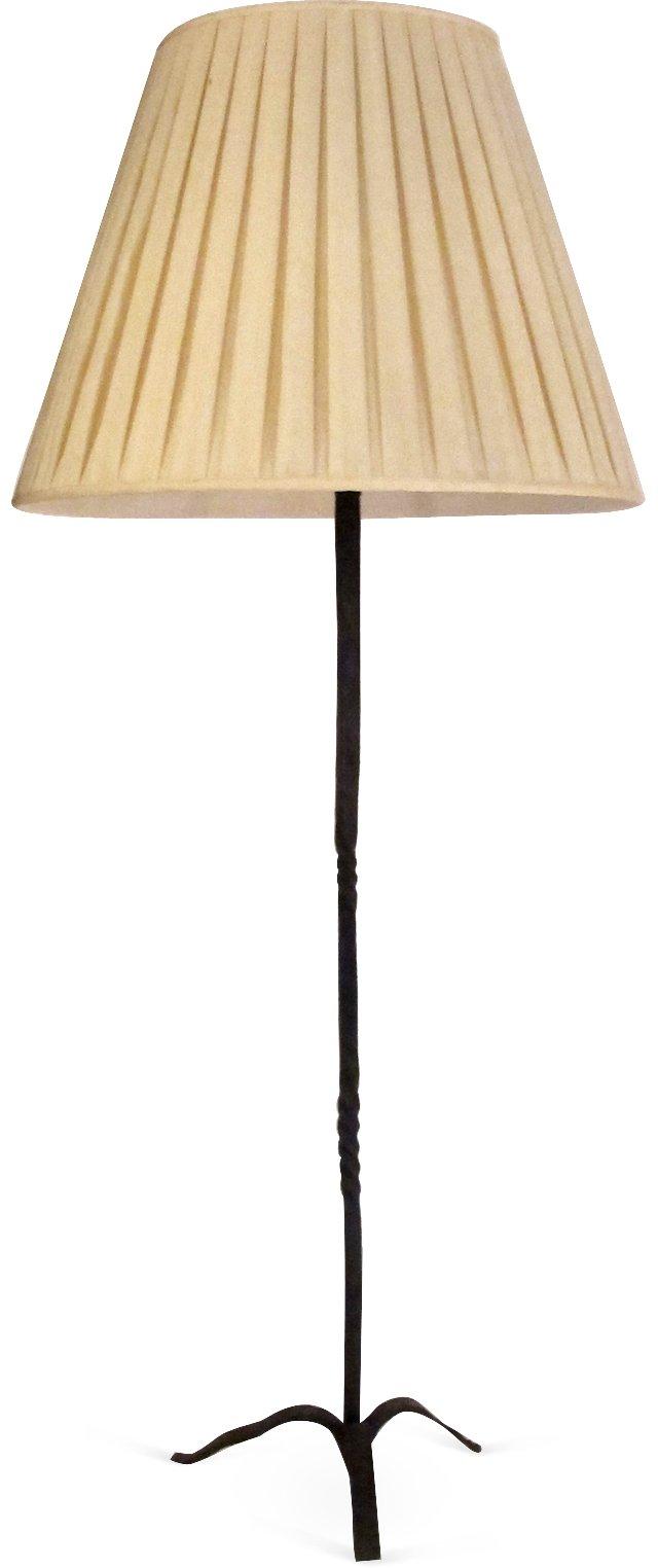 Rustic Iron Picket Lamp III