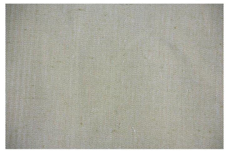 Pale Lime-Green Slubby Linen, 4.5 Yds.