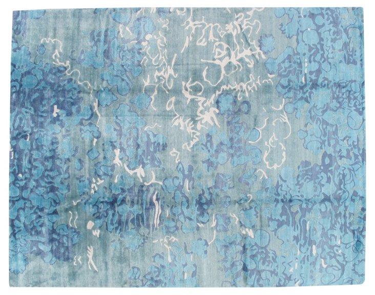 Egor Rug, Blue/Silver