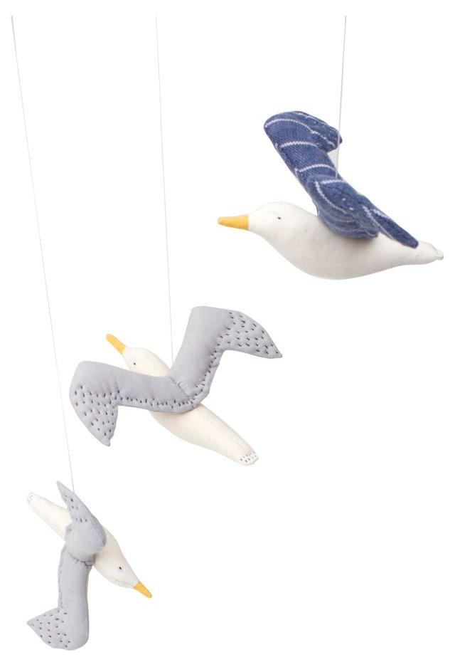 Kamomé 3 Seagulls Mobile, Gray/Blue