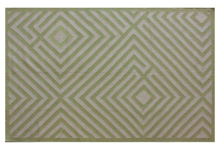8'x10' Somerset Dhurrie, Green