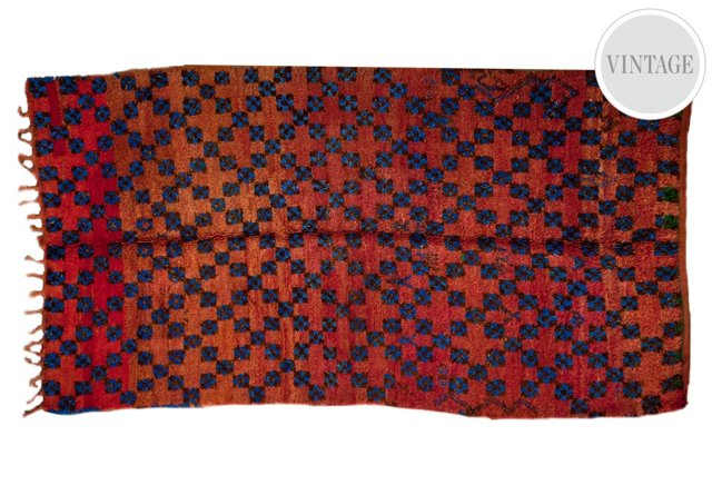 "5'5""x9'4"" Moroccan Rug, Red/Multi"