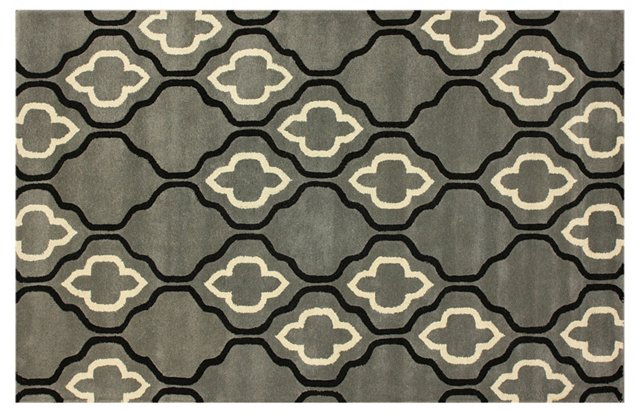 Blackstone Rug, Gray/Cream