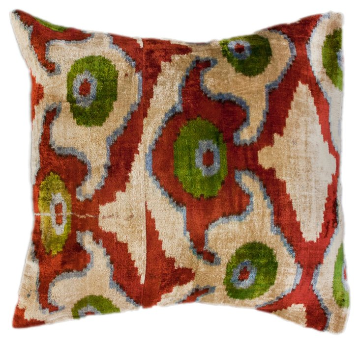 Sight 18x18 Silk-Blend Pillow, Red